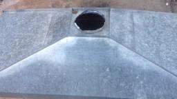 Coifa 1,20 x 2,50 de zinco