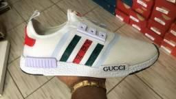 Tênis da Gucci e adidas