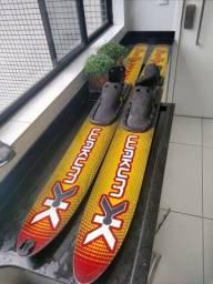 Prancha Wakum p/ Esqui Aquático Line Up 170 Amarelo