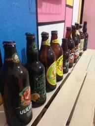 Conjunto com 10 garrafas de cerveja para decoração