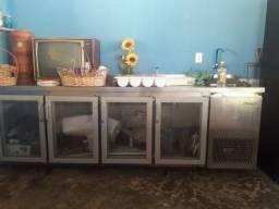 Refrigerador 4 portas com pia