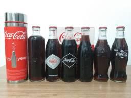 Coleção de garrafas históricas e Edição especial 25 anos Coca Cola
