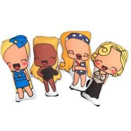 Kit Almofadinhas / Naninhas Divas Pop - Britney, Lady Gaga, Madonna e Beyoncé