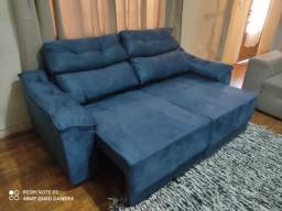 Sofa Na Cor AzuL Lindo D+