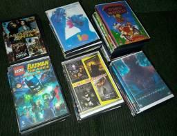 LOTE COM 57 DVD's - Desenhos, filmes e musicais