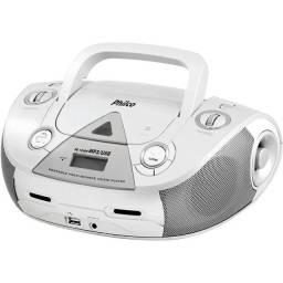 Som Portátil Philco PB126 com CD Player MP3 Rádio FM Entrada USB e Auxiliar de Áudio