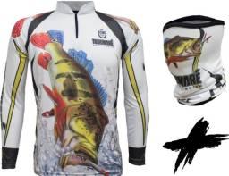Aproveite!! Camisas de pesca masculina e feminina + (Bandana de Brinde)