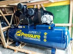 Compressor de ar 40 pés 425 litros 10HP 175 libras - Pressure