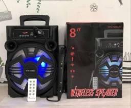 POTENTE Caixa de Som KTS 1090 Bluetooth Microfone e Controle Inclusos RECEBA HOJE