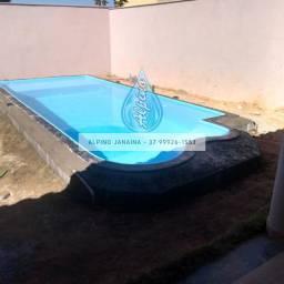 JA - Piscina com praia - 7 metros x 3 metros x 1,30m profundidade