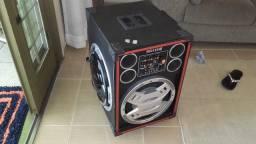 Vendo caixa de som profissional com entrada de pen drive e microfone