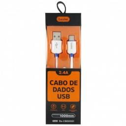 (Novo) USB x Tipo-C 1m 2.a Carregamento Rapido aC/ cARTÃO