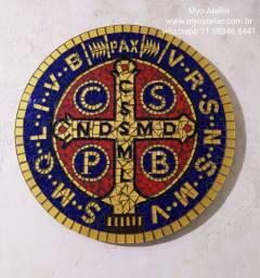 Mandala São Bento Mosaico, mosaico religioso, igreja,