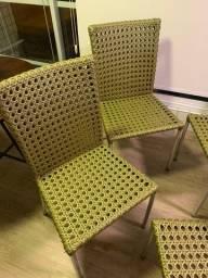 cadeira de fibra sintética para varanda