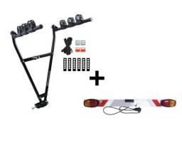 Porta bike para bola de reboque e sinalizador
