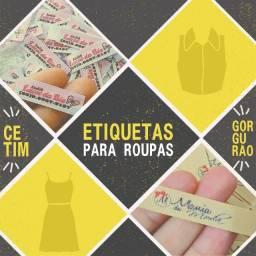 Etiquetas para Roupas - Cetim ou Gorgurão- compre direto de fábrica - personalizada