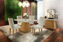 Título do anúncio: Mesa de Jantar Luna c/ 4 cadeira - Entrega Grátis
