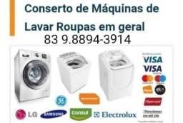Título do anúncio: Especialista em Conserto de máquina de lavar roupa em geral, todas as marcas