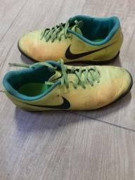 Chuteira Society Nike Magista Onda II TF - Amarelo e Laranja<br><br>