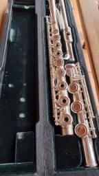 Flauta Altus Azumi az2000rb Bocal Prata maciça inglesa 958 vazada