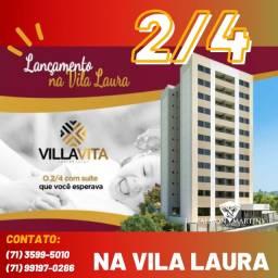 Grande Lançamento - Apartamento 2/4 em 53m² com varanda