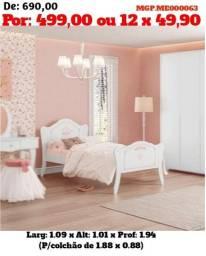 Cama Infantil - Branco Rosa- Cama das Princesas - Liquida em MS