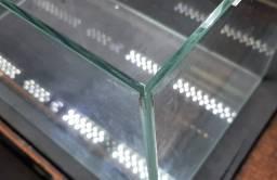 Aquário 45 cm com luminária