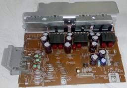 Placa amplificador e placa fonte mini system Panasonic SA-AK770.