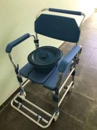 Cadeira de Banho Desmontável em Alumínio Seminova
