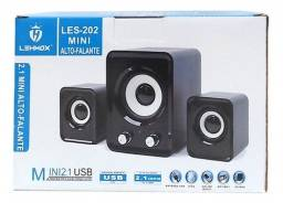 Mini Caixa de Som Lehmox LES-202 USB