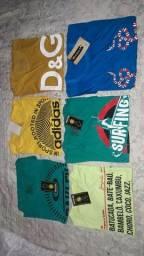 Kit com 6 camisas. Leia o anúncio
