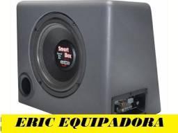 """caixa amplificada Smart Box -  Sub de 8""""  100w Rms + cabos -  me liga"""