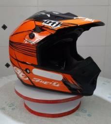 Capacete Motocross Pro Tork TH1 Shield Laranja TAM. 58(Produto Novo)