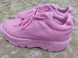 Tenis bufalo rosa novo
