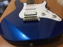 Título do anúncio: guitarra yamaha pacifica 012 azul praticamente nova!