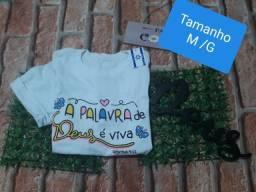Blusa evangelica modelo T-shirt T M