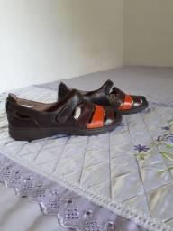 Sandália ortopedica couro ,38