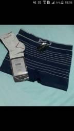 1 cueca tamanho G + 1 kit 3 meias