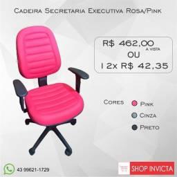 Cadeira para Escritório Secretária Alta Courvin Pink / Nova / Invicta Office