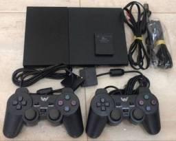 PlayStation 2 - guitarra, bateria, volante, 2 manetes, memorie card