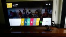 Smart TV LG 42LB6500, 3D, modelo top, Full HD, semi-nova