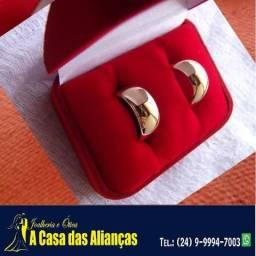 Alianças ouro 18k / Noivado / Casamento7 mm