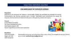 Encarregado de Serviços Gerais