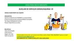 Auxiliar de Serviços Gerais - Aquiraz CE