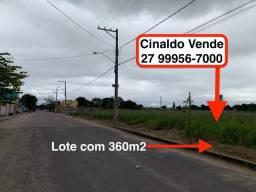 Lote com 360m2 na AV. principal do Bairro Villa Maria Linhares ES