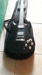 Guitarra semi nova Memphis modelo les paul