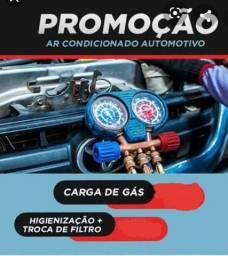 Promoção carga de gaz ar condicionado