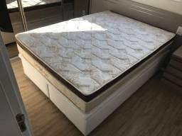Conjunto cama baú bipartida e colchão Unique