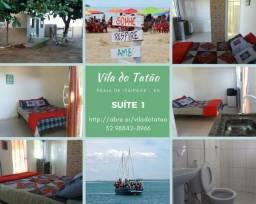 Suíte em frente ao mar até 4 pessoas em Itaipava ES