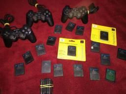 Controle e memory card de ps2 Sony original